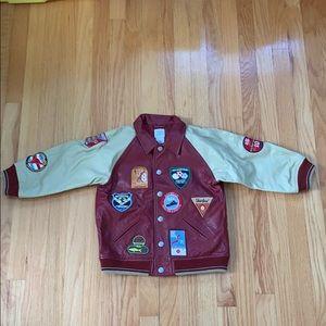 Boys Gap Leather Varsity Jacket